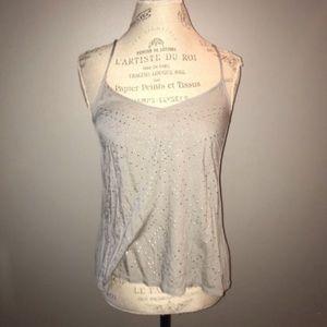 Gray Racerback Tank with Silver Studs Size Small